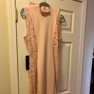 Bebe light pink midi/maxi dress